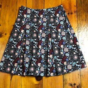 Christopher & Banks Pleated Dark Brown Skirt